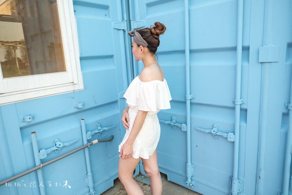 矮個子女孩穿搭》夏天就該這樣穿│刺繡荷葉平口連身褲