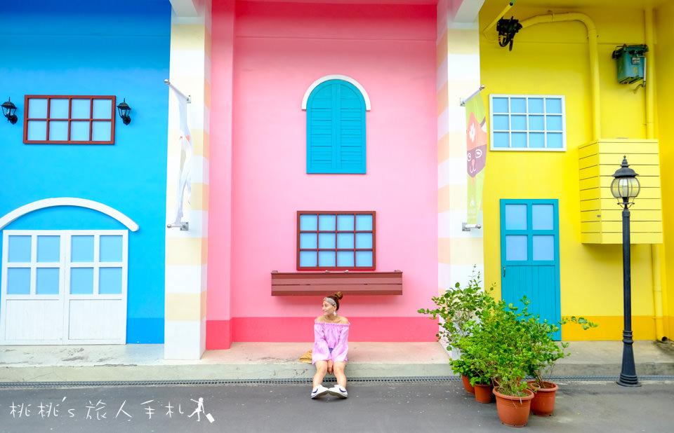 IG打卡景點》彰化茉莉花壇夢想館│繽紛歐風彩虹街夢幻登場!