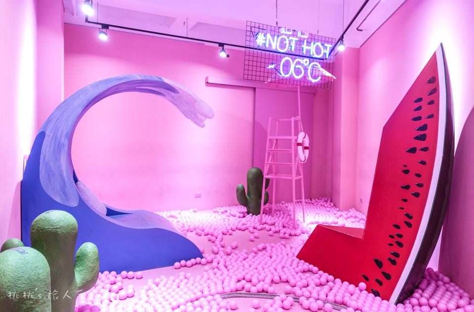 IG打卡景點》台中紅點文旅冰淇淋展整間都是粉紅球│-06℃ TAIWAN-ice cream你的夏日解渴進行式