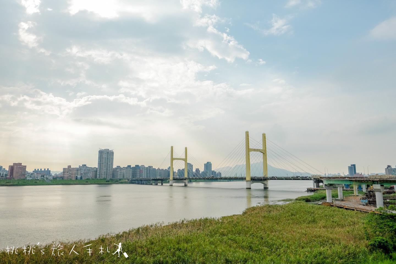 IG打卡景點》台北葫蘆國小跨堤人行陸橋│天橋也能拍得這麼美!
