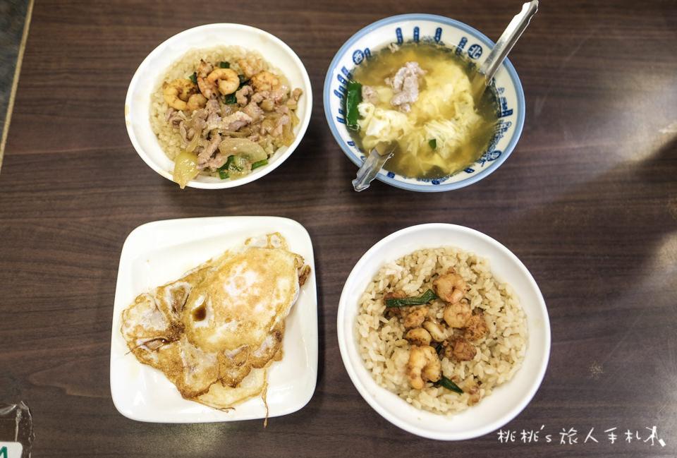 台南美食》矮仔成蝦仁飯│推薦加點鴨蛋湯、香煎半熟鴨蛋,這樣才對味!