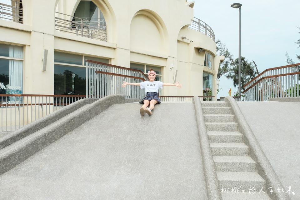 IG打卡景點》新竹南寮漁港 旅遊服務中心│沙坑.戲水.溜滑梯 全部免費玩!