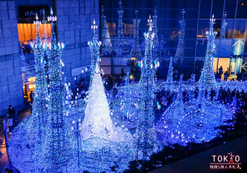 東京燈飾》汐留Caretta 2018聖誕燈飾│點燈時間.交通.節目表.最佳拍攝點