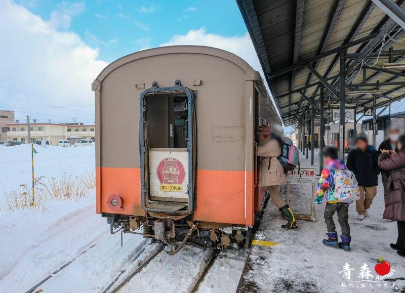 青森景點》津輕鐵道暖爐列車 烤魷魚配清酒 冬季限定