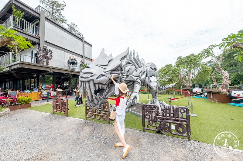 新竹景點》SRC北埔印象景觀庭園 咖啡民宿│變形金剛機器人基地