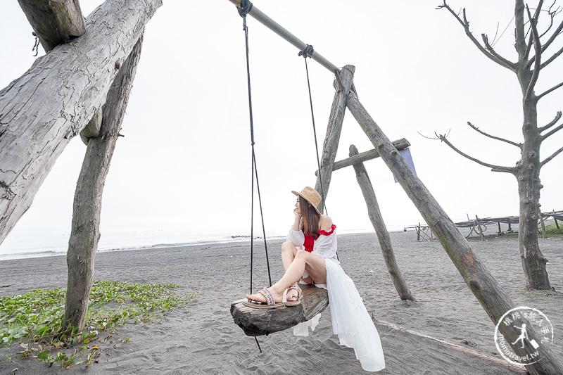 宜蘭景點》壯圍沙灘盪鞦韆│龜山朝日 絕佳海景首席座位