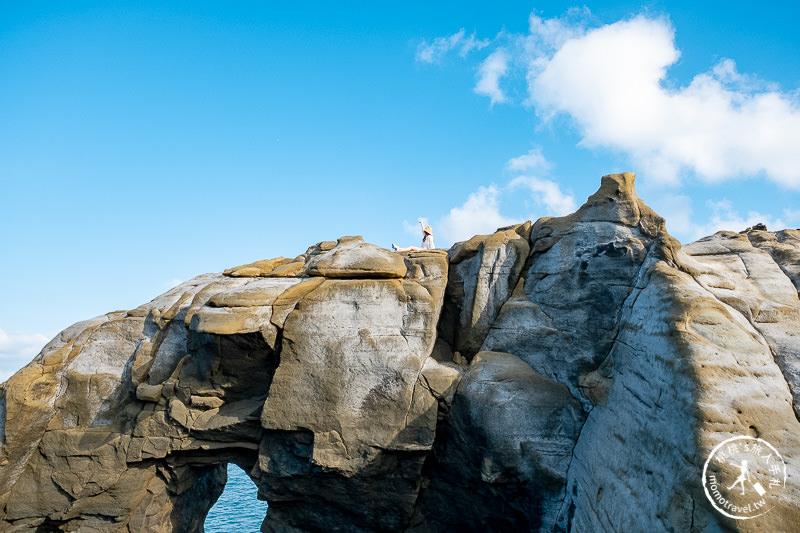新北瑞芳景點》深澳岬角 象鼻岩│佇立在海上的岩石巨象