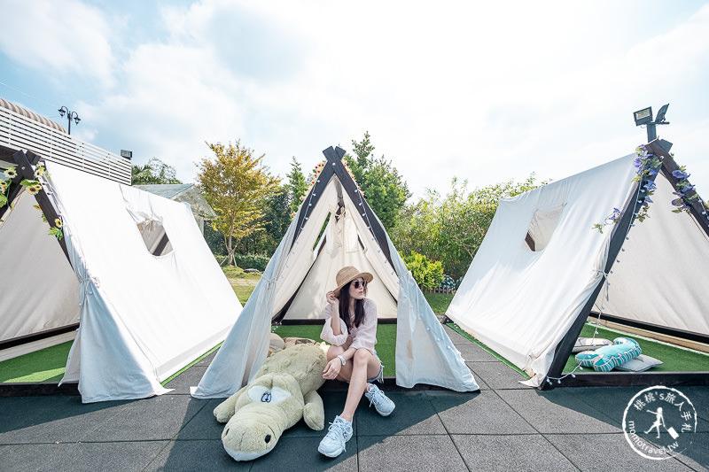 彰化景點》極光森林景觀餐廳│浪漫夜光帳篷 欣賞夜景約會聚餐新選擇