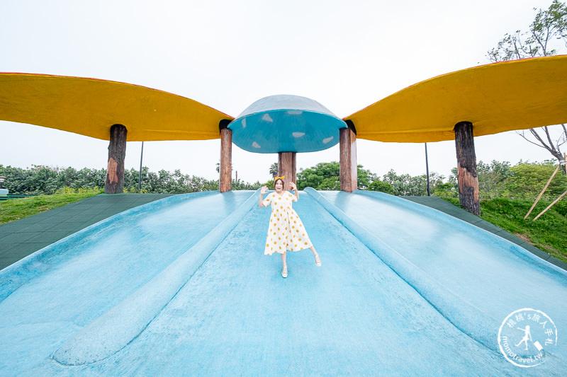 苗栗景點》獅山親子公園│火炎山溜滑梯+沙坑+玩水+多功能遊具