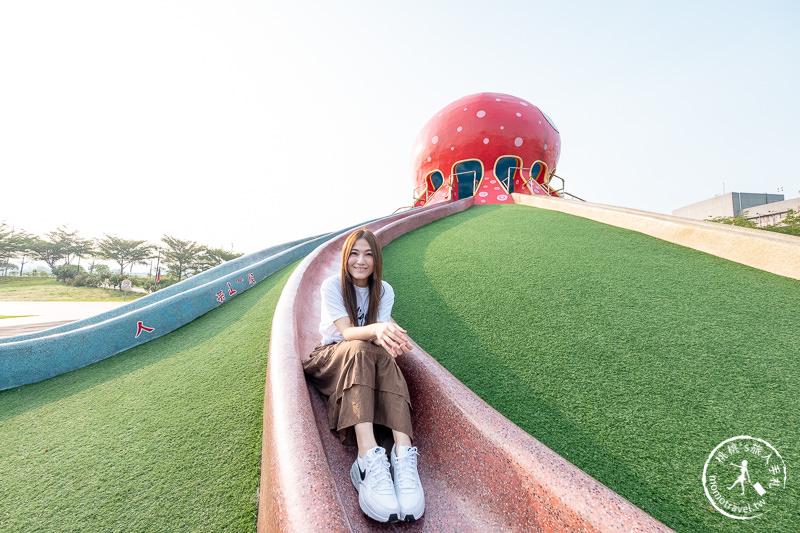 苗栗景點》貓裏喵親子公園│大章魚溜滑梯+野餐+沙坑+共融式遊具