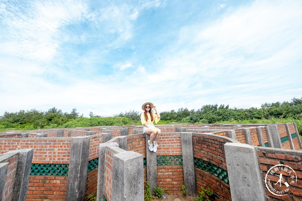 新北石門景點》老梅迷宮│神祕圖騰迷宮藏北海岸富貴角